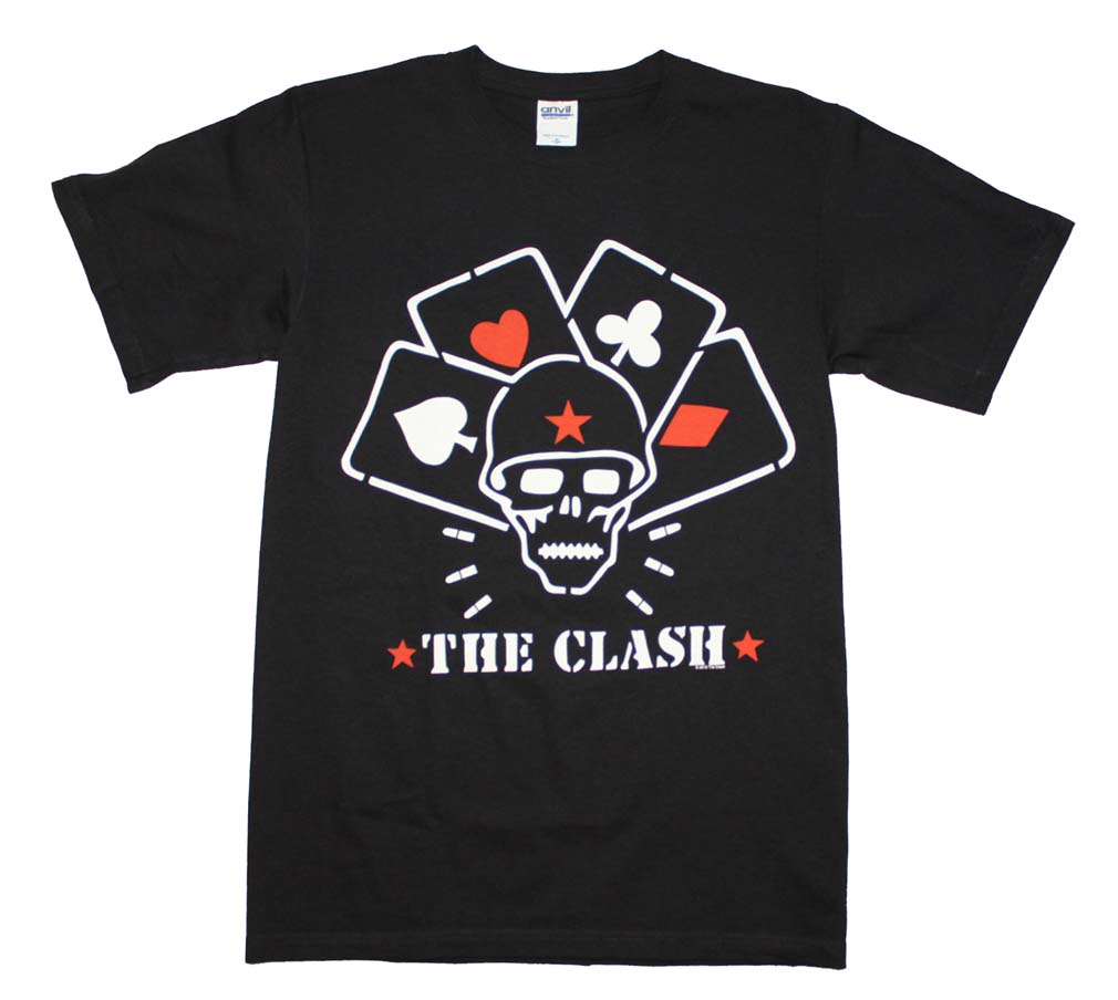 The clash straight to hell cards t shirt for Straight from the go shirt