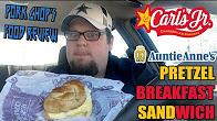 Pork Chop Reviews Carl Jr.'s Pretzel Breakfast Sandwich