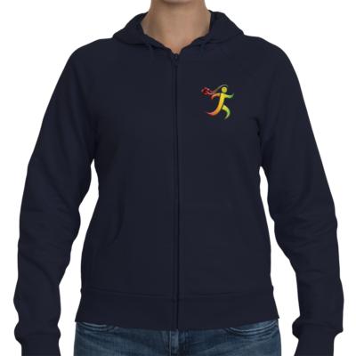 GoStoner Rasta Logo Women's Zip Hoodie
