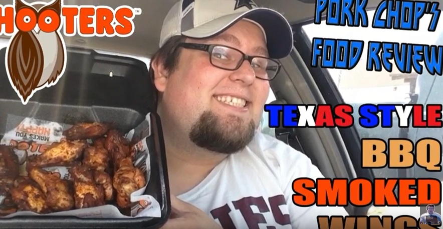 Pork Chop Reviews Hooters' Texas Style BBQ Smoked Wings