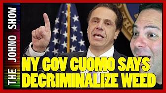 The Johno Show New York State Governor Andrew Cuomo pushes to decriminalize Marijuana