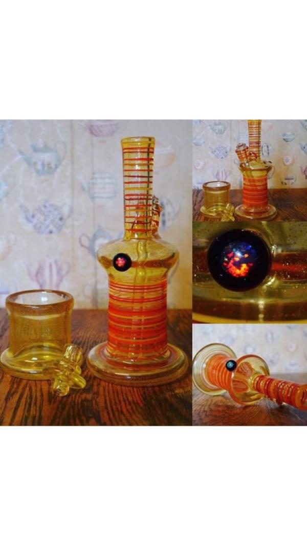Birdshot Glass Works Amber Tube