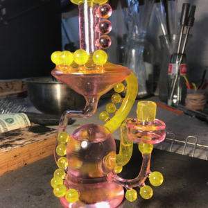 Marky Mark Glass Rig Experimental Yellow & Acid Drop Rig