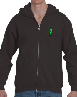 GoStoner 3D Running Man Zip Up Hoodie