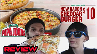 Whitfield Food Reviews Papa John's New Bacon CheddarBurger Pizza