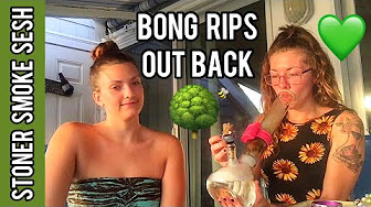 CosmicCloudz420 Taking Bong Rips Out Back Stoner Sesh