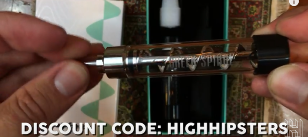 High Hipsters Alpinetop Green Spiral Glass Blunt Unboxing & Review