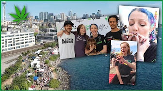 STONEY SUNDAY @ Seattle Hempfest!!!   Drone footage + world reefers smoke sesh   CoralReefer