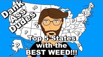 Arend's Top 5 states with the best weed!!! || Dank Ass Dudes