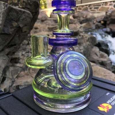 Michael Ray Glass Tube - Purple Lollipop x S