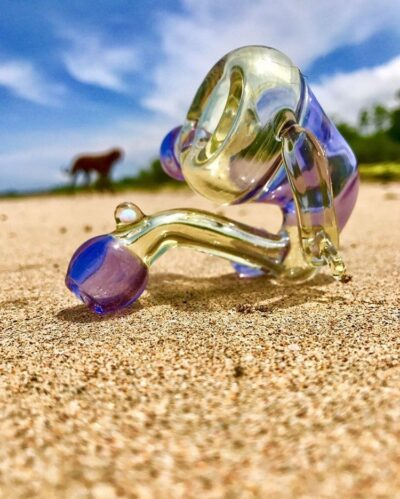 """Surfman Glass - """"Surflock"""" All CFL made from Serum & Moist"""