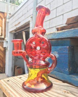 Tyler P Glass - Pommy x Terps 14mm Double Swiss Style Bubbler