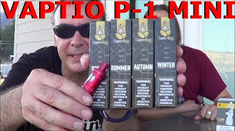 Vaptio P-1 MINI! | & FlavorFog's 4 Seasons of Ejuice! | IndoorSmokers