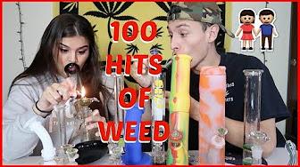 100 HITS OF WEED CHALLENGE !?!   NamelessStoners