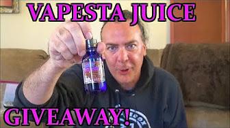 Vapesta Juice Giveaway!   Rev GTS!   IndoorSmokers