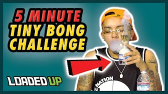 Loaded Up 5 Minute Homemade Mini Water Bottle Bong Weed Challenge