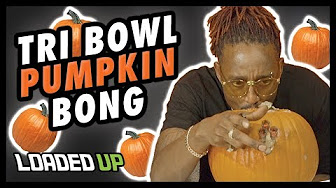 Smoking Weed With A Pumpkin Bong