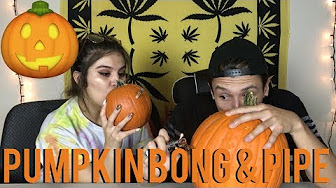 SMOKING OUT OF A PUMPKIN !!! **BONG & PIPE** | NamelessStoners
