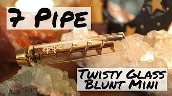 Positive Smash 420 7 Pipe Twisty Glass Blunt MINI