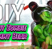 Whitfield Foods DIY Giant Zombie Sour Worm-Filled Gummy Bear Recipe