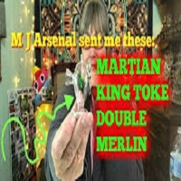 MaryLovesGlass MJ Arsenal Sent Me the MARTIN, KING TOKE, DOUBLE and MERLIN