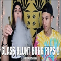 NameLess Stoners TAKING FAT GLASS BLUNT BONG RIPS !!! **MILKY HITS** #GlassBluntChallenge