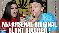 NameLess Stoners SMOKING OUT OF A DOUBLE HEAD BLUNT BUBBLER !! **MJ ARSENAL**
