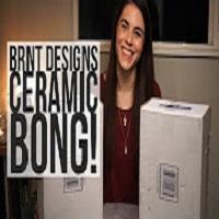 Positive Smash 420 BRNT Design Ceramic Bongs