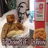 KFC Big Chicken Sandwich $5 Fill Up Review - Whitfield's Food Revue