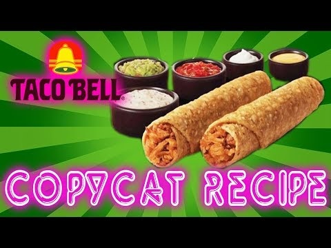 Whitfield Foods Taco Bell Rolled Chicken Tacos – Guac, Salsa & Queso Copycat Recipe