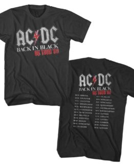AC/DC Back in Black UK Tour 1980 T-Shirt