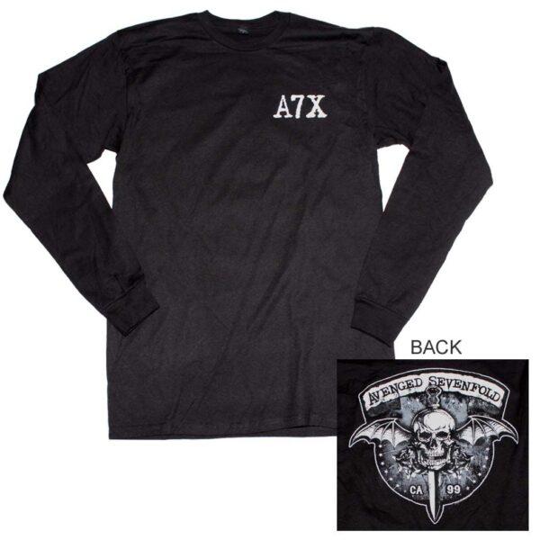 Avenged Sevenfold Biker Bat Long Sleeve T-Shirt