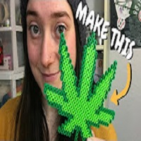 Chronic Crafter How to Make a Pot Leaf out of Perler Beads