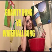 MacDizzle420 HOW TO MAKE A GRAVITY BONG vs WATERFALL BONG
