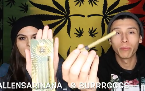 NameLess Stoners SMOKING A KING PALM HAND ROLLED LEAF BLUNT !!