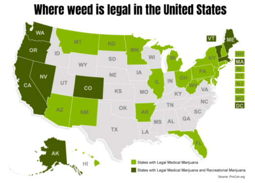 Where weed will be on the ballot in 2018